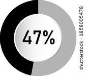 47  circle percentage diagram...