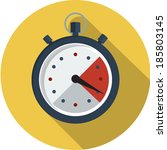 stopwatch flat icon    Shutterstock .eps vector #185803145