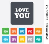love you sign icon. valentines... | Shutterstock .eps vector #185803715