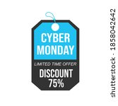cyber monday sale. black and... | Shutterstock .eps vector #1858042642