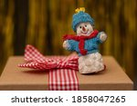 Happy Snowman Figurine With A...