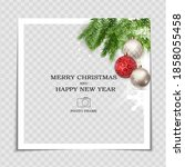merry christmas and happy new... | Shutterstock .eps vector #1858055458