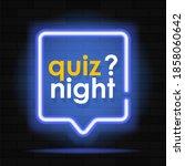 neon quiz banner. glowing... | Shutterstock .eps vector #1858060642