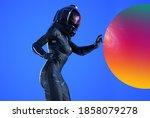 Female Futuristic Astronaut...