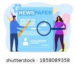 concept of newspaper journalism.... | Shutterstock .eps vector #1858089358