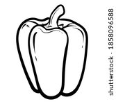 peppers. vector illustration of ...   Shutterstock .eps vector #1858096588