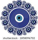 mandala greek evil eye vector   ... | Shutterstock .eps vector #1858096702