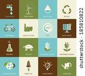 set of flat designed ecology...