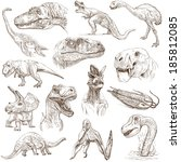 dinosaurs  set no. 1   ... | Shutterstock . vector #185812085