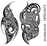 tattoo design | Shutterstock .eps vector #185813672