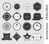 set of blank retro vintage... | Shutterstock .eps vector #185814842