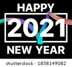 2021 happy new year with...   Shutterstock . vector #1858149082