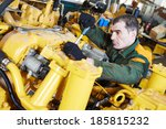 industrial worker during heavy... | Shutterstock . vector #185815232