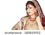 portrait of beautiful indian... | Shutterstock . vector #185819552