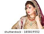 portrait of beautiful indian... | Shutterstock . vector #185819552