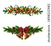 christmas holly brunches... | Shutterstock .eps vector #1858212982