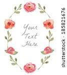 Vector Watercolor Floral Wreat...