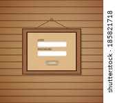 picture frame web login form...