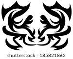 vector illustration on an... | Shutterstock .eps vector #185821862