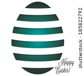 Paper Cut Out Easter Egg Card...