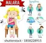 malaria symptom information... | Shutterstock .eps vector #1858228915
