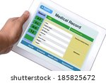 patient medical record browse...   Shutterstock . vector #185825672
