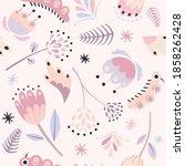 vector seamless floral pattern...   Shutterstock .eps vector #1858262428