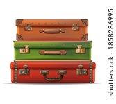 3d realistic vector travel... | Shutterstock .eps vector #1858286995