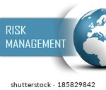 risk management concept with... | Shutterstock . vector #185829842
