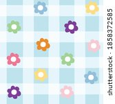 seamless repeat pattern of cute ... | Shutterstock .eps vector #1858372585