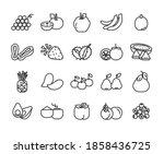 food fruit icon pattern apple... | Shutterstock . vector #1858436725