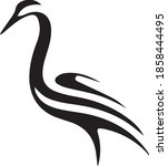 stork outline design vector...   Shutterstock .eps vector #1858444495
