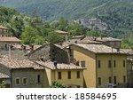 Small photo of Old towns along the Salaria road (Ascoli Piceno, Marche, Italy) at summer