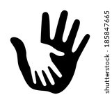 caring thick hand  raster... | Shutterstock . vector #185847665