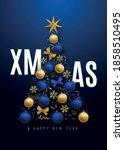 merry christmas banner.... | Shutterstock .eps vector #1858510495