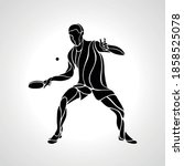 table tennis male player with...   Shutterstock .eps vector #1858525078