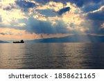 Ship On Sea  Beautiful Summer...