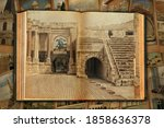 Old Open Book. Ruins And...