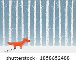 winter card or poster with... | Shutterstock .eps vector #1858652488