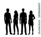 vector silhouettes of  men and... | Shutterstock .eps vector #1858666645