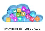 cloud computing and colorful... | Shutterstock . vector #185867138