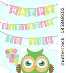 first birthday invitation | Shutterstock .eps vector #185868302