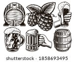 a set of black and white... | Shutterstock .eps vector #1858693495