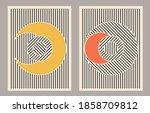 trendy set of abstract creative ... | Shutterstock .eps vector #1858709812