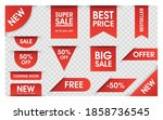 price tags vector collection.... | Shutterstock .eps vector #1858736545