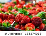 Vivid Colorful Red Strawberrie...