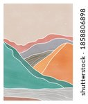 abstract mountain landscape... | Shutterstock .eps vector #1858806898