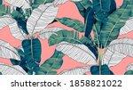 botanical seamless pattern ... | Shutterstock .eps vector #1858821022
