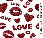 seamless pattern valentine's...   Shutterstock .eps vector #1858860382