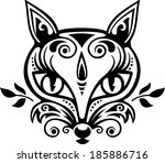 fox   ornaments   vector... | Shutterstock .eps vector #185886716